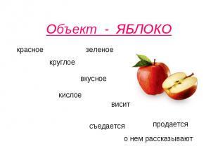 Объект - ЯБЛОКО