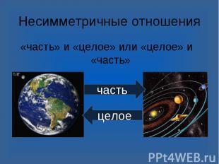 «часть» и «целое» или «целое» и «часть» «часть» и «целое» или «целое» и «часть»