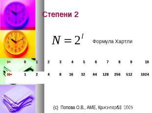 Степени 2