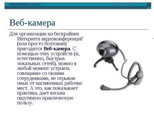 Веб-камера Для организации на бескрайних Интернета видеоконференций (или просто