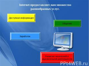 Internet предоставляет нам множество Internet предоставляет нам множество разноо