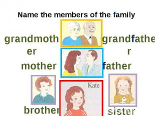 Name the members of the family