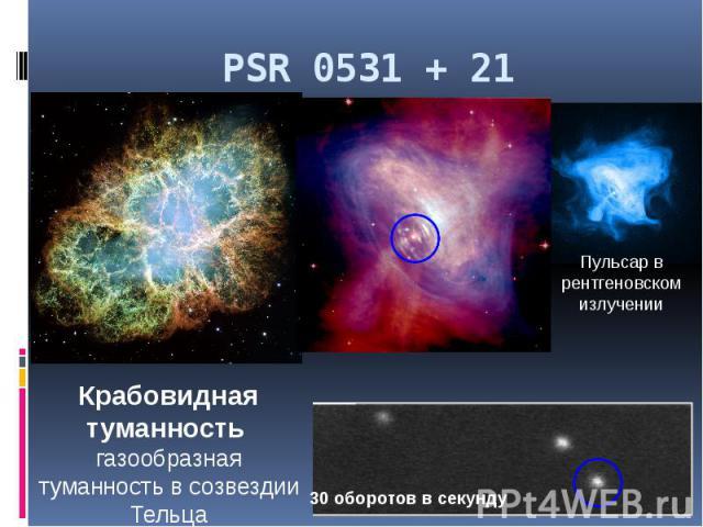 PSR 0531 + 21
