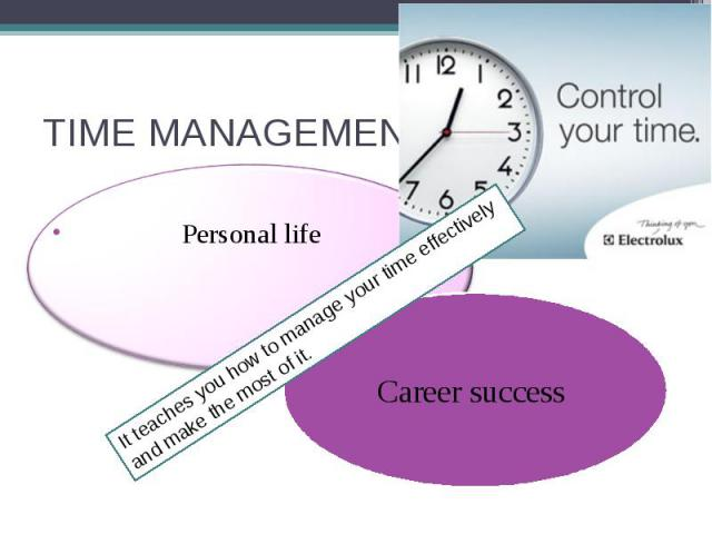 TIME MANAGEMENT Personal life