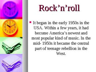 It began in the early 1950s in the USA. Within a few years, it had become Americ