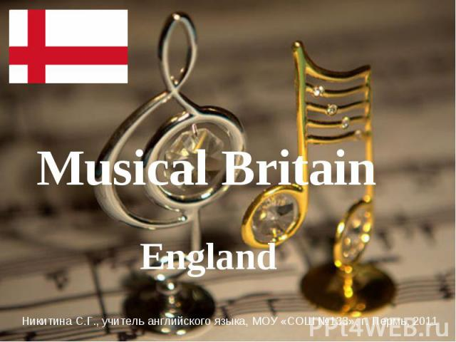 Musical Britain England