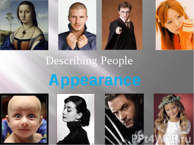 Appearance Describing People
