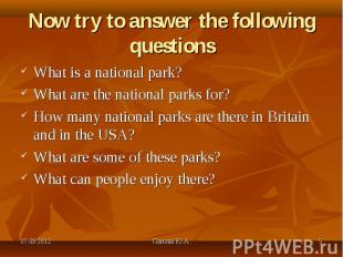What is a national park? What is a national park? What are the national parks fo