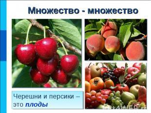 Черешни и персики – это плоды