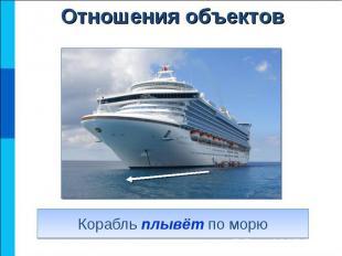 Корабль плывёт по морю