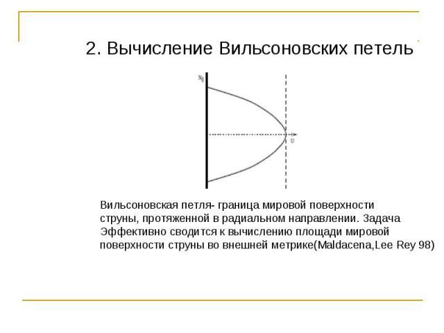 2. Вычисление Вильсоновских петель