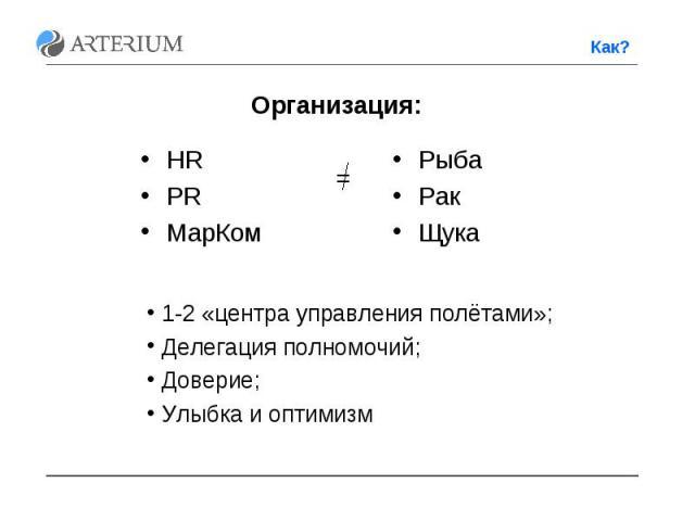 HR HR PR МарКом