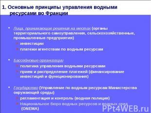Лица, принимающие решения на местах (органы территориального самоуправления, сел