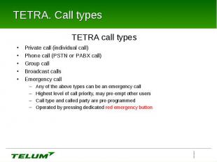 TETRA. All Interfaces