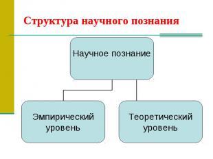 Структура научного познания