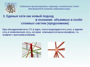 3. Единые сети как новый подход в познании объемных и особо сложных систем (прод