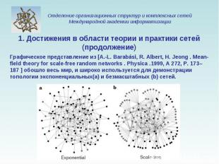 Графическое представление из [A.-L. Barabási, R. Albert, H. Jeong . Mean-field t