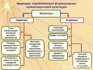 Области менеджмента, определяемые организационной культурой