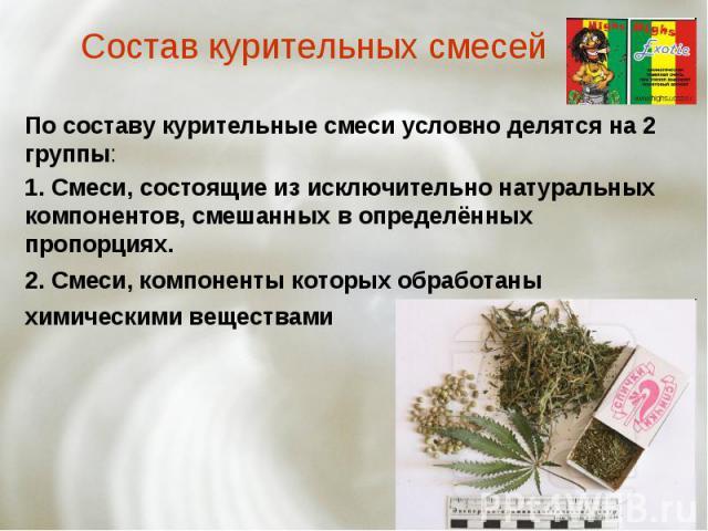 Презентация на тему курительные смеси