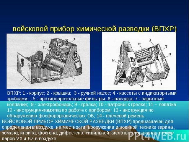 войсковой прибор химической разведки (ВПХР)