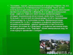 Трускавец - курорт, расположенный в предгорье Карпат. На его территории есть 11