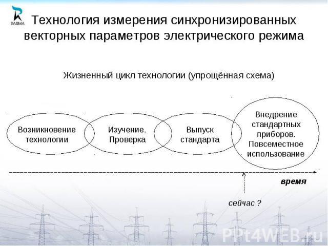 Технология измерения синхронизированных векторных параметров электрического режима