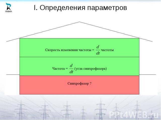 I. Определения параметров