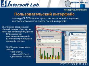 Пользовательский интерфейс «Контур OLAPBrowser» представляет простой в изучении