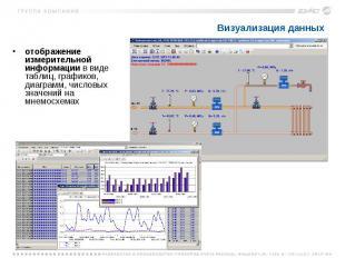 Визуализация данных отображение измерительной информации в виде таблиц, графиков