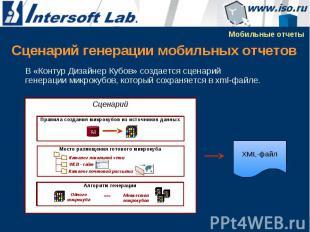 Сценарий генерации мобильных отчетов В «Контур Дизайнер Кубов» создается сценари