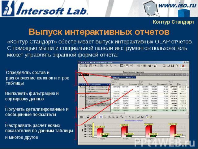 Выпуск интерактивных отчетов