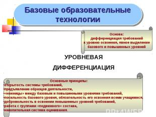 УРОВНЕВАЯ УРОВНЕВАЯ ДИФФЕРЕНЦИАЦИЯ