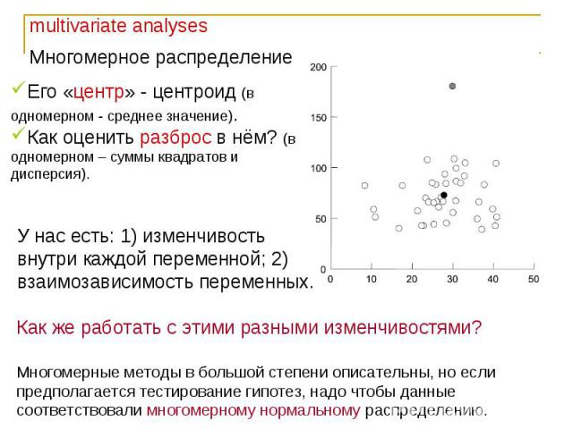 Основы многомерных методов анализа. Факторный анализ