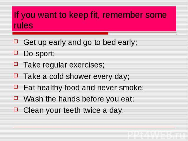 how to keep fit and health If we want to keep fit and health at all times, then you have to make some active effort keeping fit doesnt only means being physically active to face the tasks of.