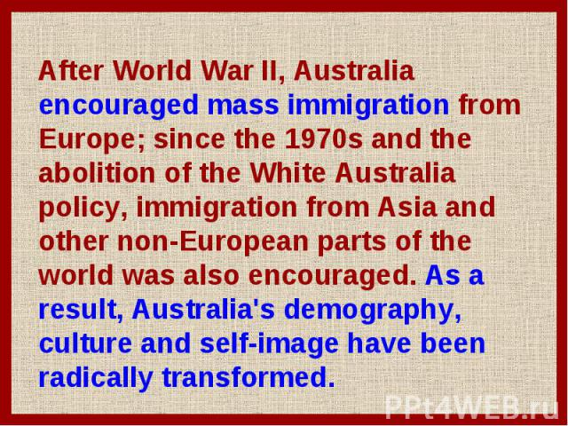 abolition of the white australia policy The abolition of the white australia policy: the immigration reform group revisited, centre for the study of australia-asia relations, faculty of asian and international studies, griffith university, queensland, 1992, p.