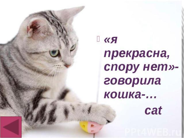 «я прекрасна, спору нет»-говорила кошка-… «я прекрасна, спору нет»-говорила кошка-… cat