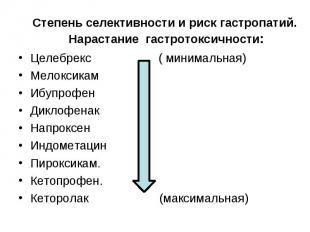 Целебрекс ( минимальная) Целебрекс ( минимальная) Мелоксикам Ибупрофен Диклофена