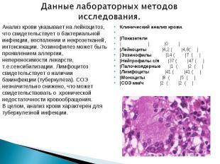 Клинический анализ крови. Клинический анализ крови.  |Показатели | | |0 |