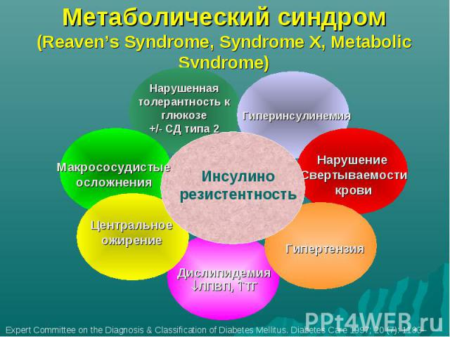 Метаболический синдром (Reaven's Syndrome, Syndrome X, Metabolic Syndrome)