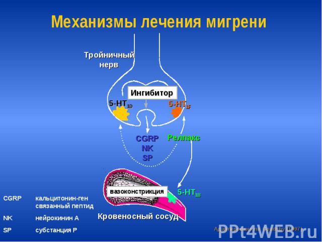 Механизмы лечения мигрени