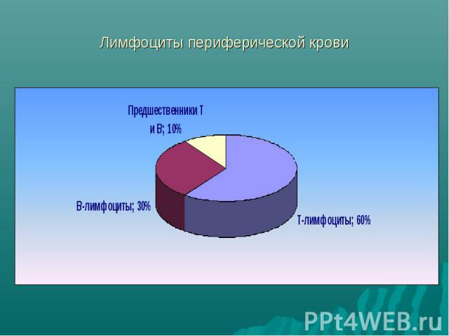 Лимфоциты периферической крови