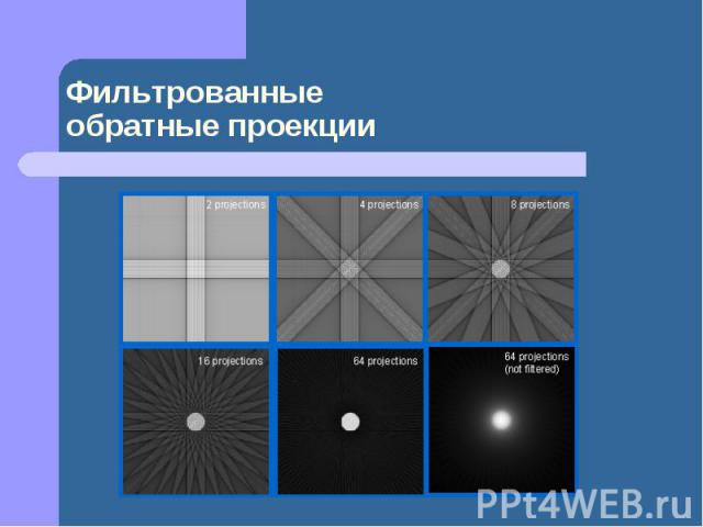 Фильтрованные обратные проекции