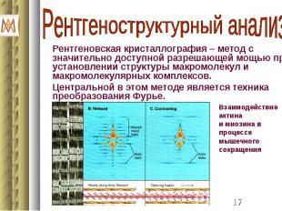 Рентгеновская кристаллография – метод с значительно доступной разрешающей мощью