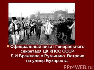 Официальный визит Генерального секретаря ЦК КПСС СССР Л.И.Брежнева в Румынию. Вс