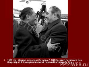 1981 год. Москва. Аэропорт Внуково-2. Л.И.Брежнев встречает 1-го Секретаря ЦК Ко