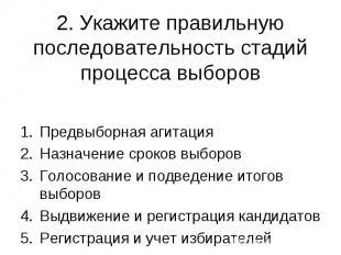 Предвыборная агитация Предвыборная агитация Назначение сроков выборов Голосовани