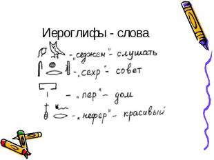Иероглифы - слова