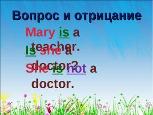 Mary is a teacher. Mary is a teacher.