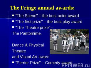 """The Scene"" – the best actor award ""The Scene"" – the best actor award ""The first"