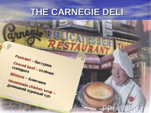 THE CARNEGIE DELI